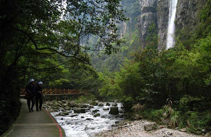 泰國國家電視臺攝制組取景張家界大峽谷景區